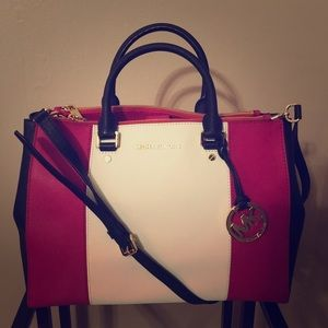Michael Kors leather satchel bag